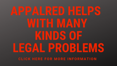 AppalReD Helps with Many Kinds of Legal Problems