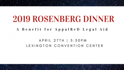 Rosenberg Dinner - A Benefit for AppalReD Legal Aid